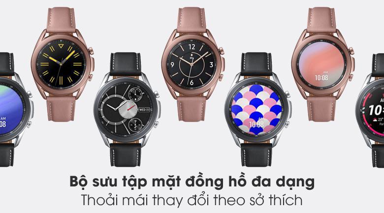 Đồng hồ Samsung Galaxy Watch 3 41mm với bộ sưu tập giao diện khổng lồ