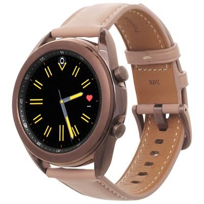 Đồng hồ thông minh Samsung Galaxy Watch 3 41mm viền thép dây da