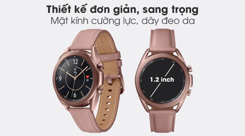 Đồng hồ Samsung Galaxy Watch 3 41mm sở hữu thiết kế đơn giản, tinh tế