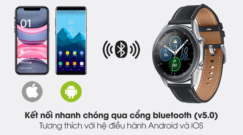 Đồng hồ Samsung Galaxy Watch 3 41mm kết nối với các thiết bị qua sóng bluetooth