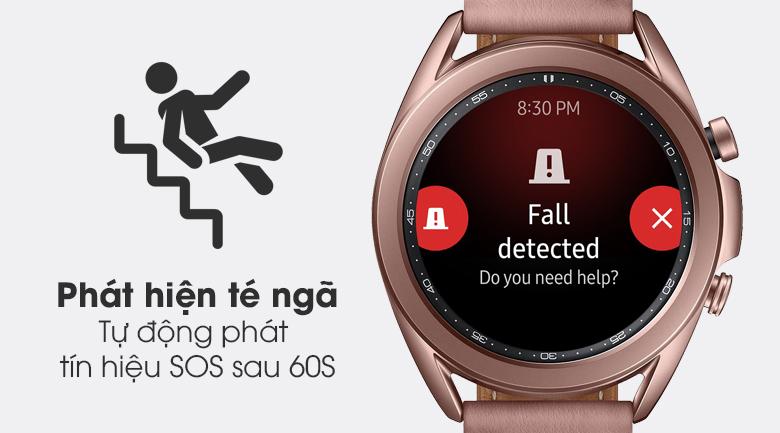 Đồng hồ Samsung Galaxy Watch 3 41mm với tính năng phát hiện té ngã