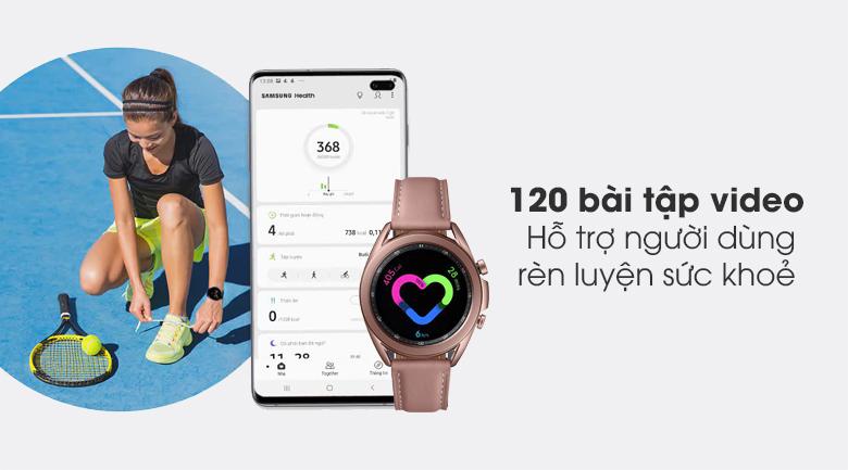 Đồng hồ Samsung Galaxy Watch 3 41mm gồm hơn 120 video bài tập thể thao