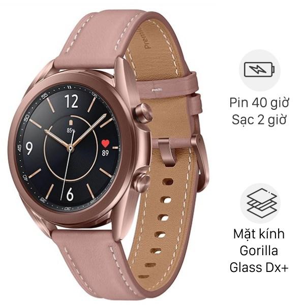 Samsung Galaxy Watch 3 41mm thép vàng dây da hồng