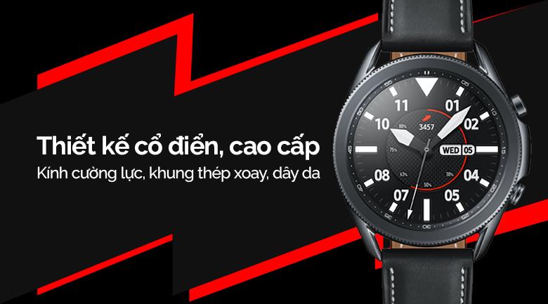 Đồng hồ thông minh Samsung Galaxy Watch 3 LTE 45mm có thiết kế cổ điển, cao cấp