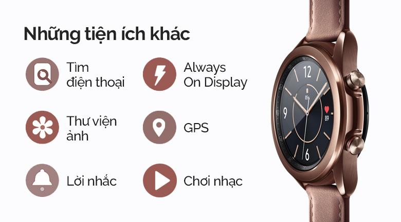 Đồng hồ thông minh Samsung Galaxy Watch 3 LTE 41mm còn có rất nhiều tiện ích khác