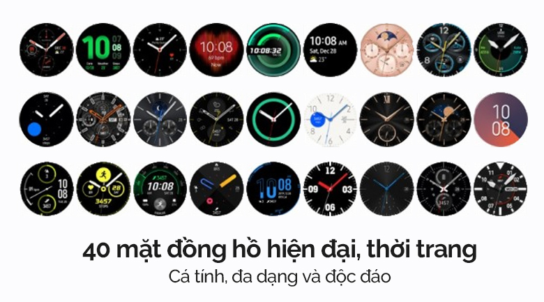 Đồng hồ thông minh Samsung Galaxy Watch 3 LTE 41mm có nhiều lựa chọn mặt đồng hồ