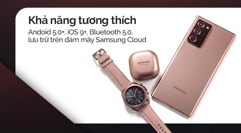 Đồng hồ thông minh Samsung Galaxy Watch 3 LTE 41mm kết nối với các sản phẩm Galaxy khác