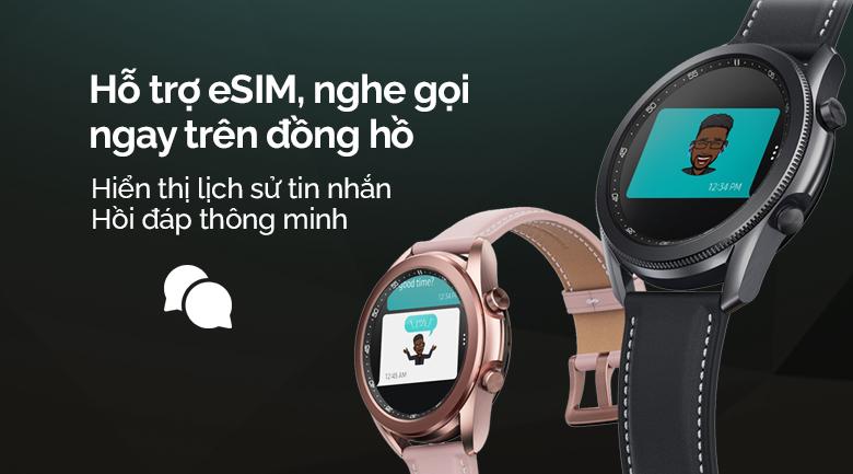 Đồng hồ thông minh Samsung Galaxy Watch 3 LTE 41mm hỗ trợ eSIM