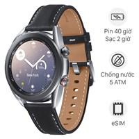 Samsung Galaxy Watch 3 LTE 41mm viền thép dây da đen