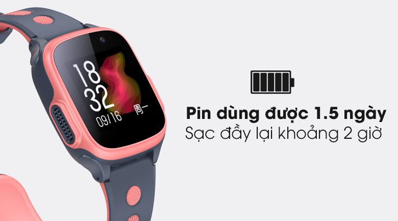 Đồng hồ thông minh trẻ em Abardeen T3 có thể dùng được 1.5 ngày trong một lần sạc