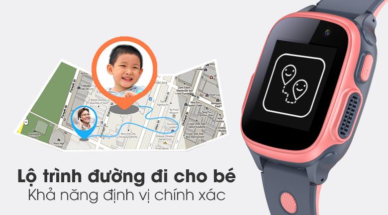 Đồng hồ thông minh trẻ em Abardeen T3 có thể tạo lộ trình di chuyển cho bé