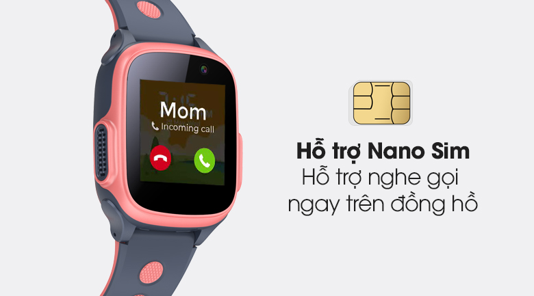 Đồng hồ thông minh trẻ em Abardeen T3 hỗ trợ tính năng Nano Sim