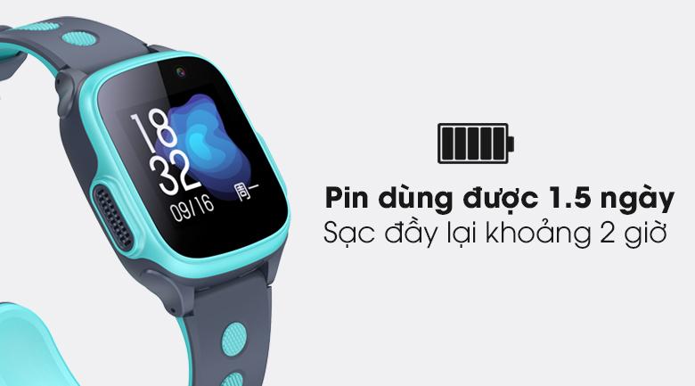 Đồng hồ thông minh trẻ em Abardeen T3 trang bị pin 1.5 ngày sử dụng