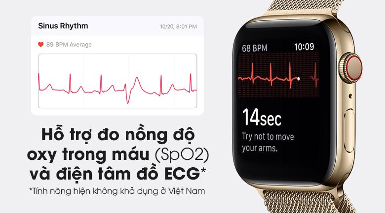 Apple Watch S6 LTE 40mm viền thép dây thép có cảm biến SpO2 đo nồng độ oxy trong máu