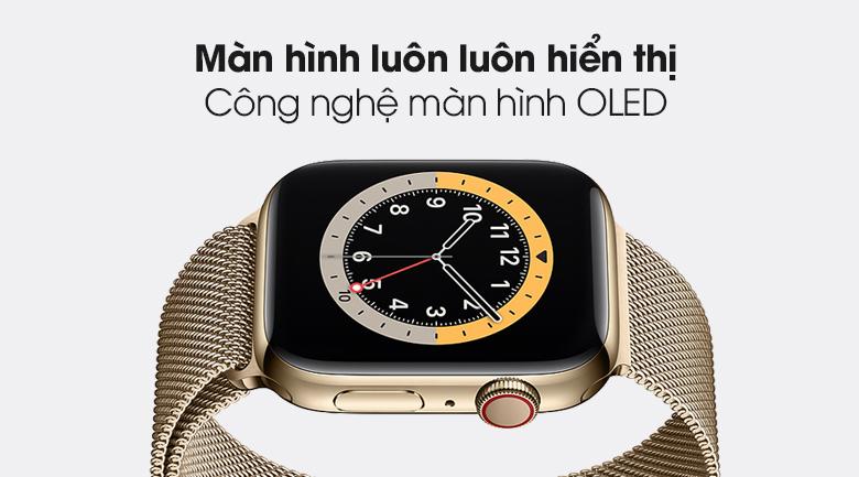 Apple Watch S6 LTE 40mm viền thép dây thép có màn hình luôn luôn hiển thị