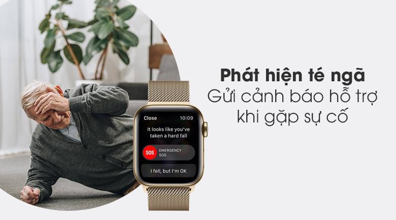 Apple Watch S6 LTE 40mm viền thép dây thép có chức năng phát hiện té ngã