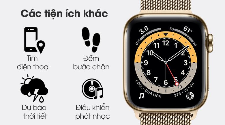 Apple Watch S6 LTE 40mm viền thép dây thép có các tiện ích khác