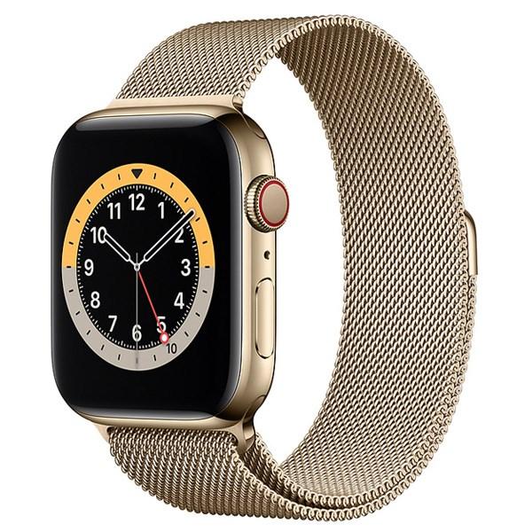 Apple Watch S6 LTE 40mm viền thép dây thép vàng