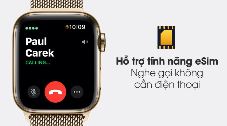 Apple Watch S6 LTE 40mm viền thép dây thép hỗ trợ tính năng eSim