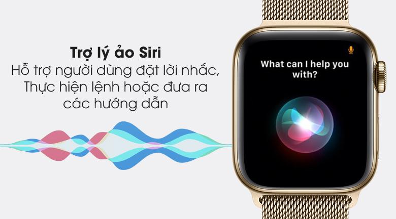 Apple Watch S6 LTE 40mm viền thép dây thép có trợ lý ảo Siri