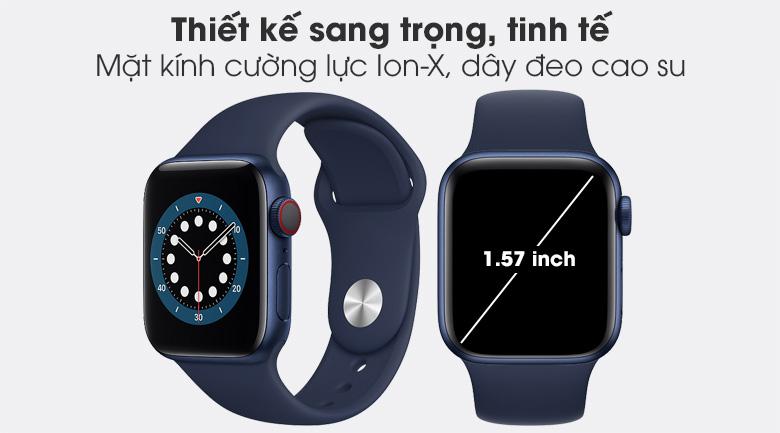 Apple Watch S6 LTE 40mm viền nhôm dây cao su sở hữu thiết kế hiện đại