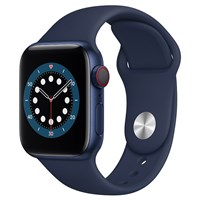 Apple Watch S6 LTE 40mm viền nhôm dây cao su xanh
