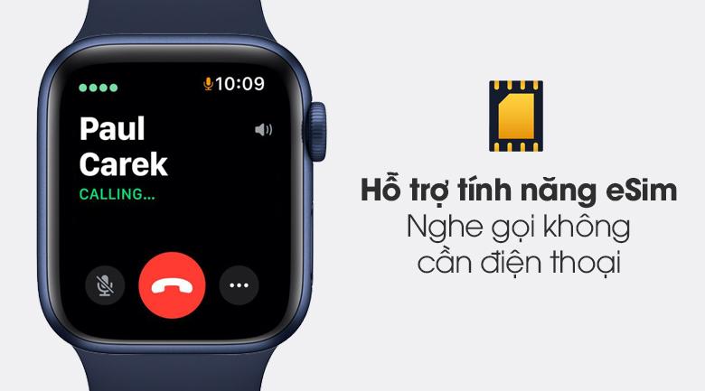 Apple Watch S6 LTE 40mm viền nhôm dây cao su hỗ trợ tính năng eSim tiện dụng