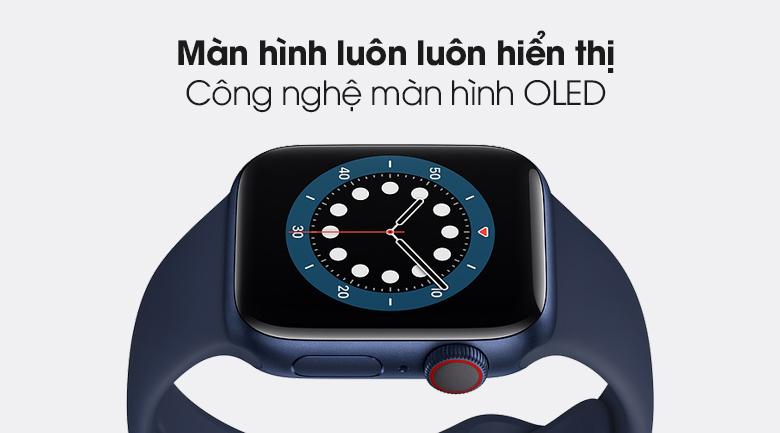Apple Watch S6 LTE 40mm viền nhôm dây cao su có màn hình OLED Retina luôn hiển thị