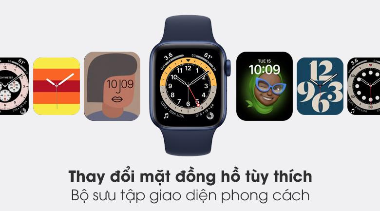 Apple Watch S6 LTE 40mm viền nhôm dây cao su có bộ sưu tập mặt đồng hồ đa dạng