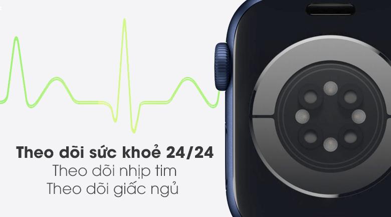 Apple Watch S6 LTE 40mm viền nhôm dây cao su có tính năng theo dõi sức khỏe