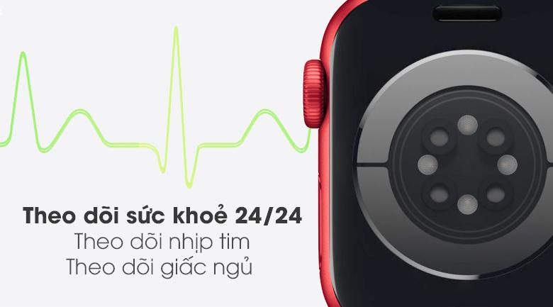 Apple Watch S6 LTE 40mm viền nhôm dây cao su (Product RED) có tính năng theo dõi sức khỏe
