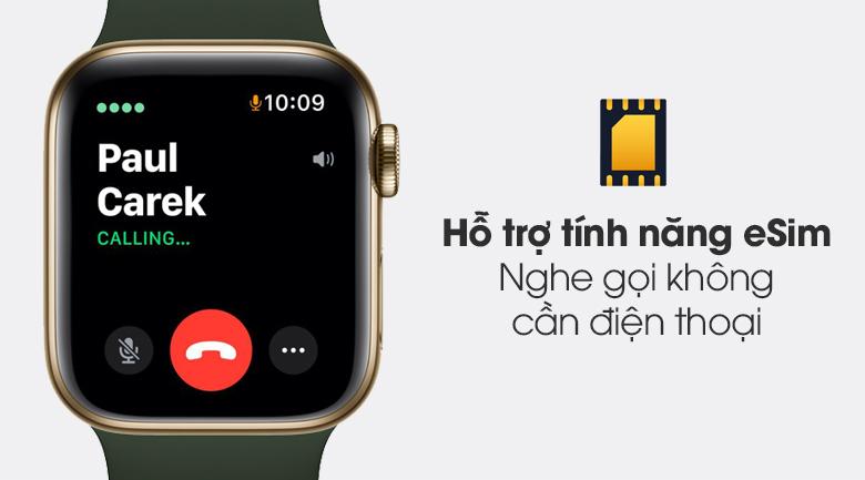 Apple Watch S6 LTE 40mm viền thép dây cao su có tính năng eSim