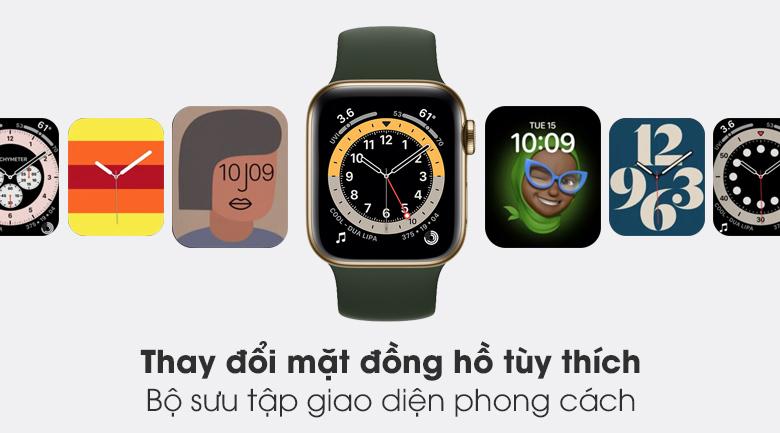 Apple Watch S6 LTE 40mm viền thép dây cao su sở hữu bộ sưu tập giao diện phong cách