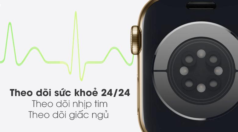 Apple Watch S6 LTE 40mm viền thép dây cao su hỗ trợ bạn theo dõi sức khỏe tốt hơn