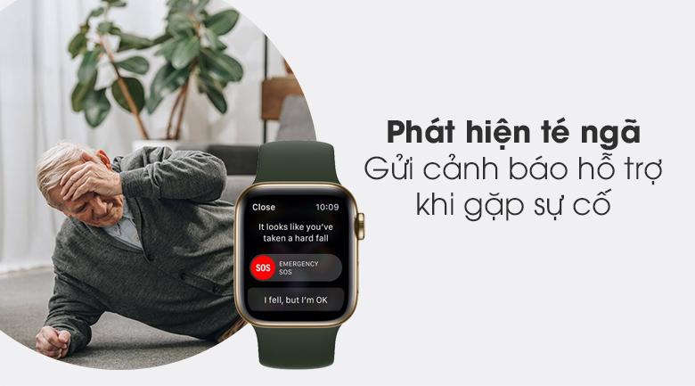Apple Watch S6 LTE 40mm viền thép dây cao su có chức năng phát hiện té ngã