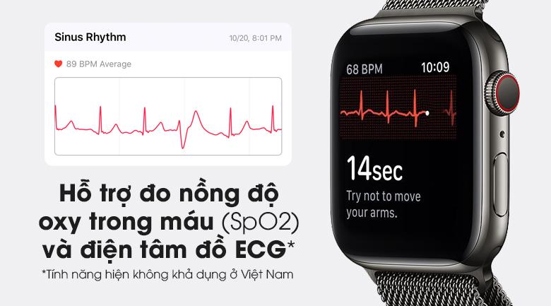 Apple Watch S6 LTE 44mm viền thép dây thép giúp bạn theo dõi sức khỏe tốt hơn
