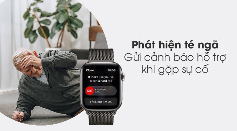 Apple Watch S6 LTE 44mm viền thép dây thép có chức năng phát hiện té ngã