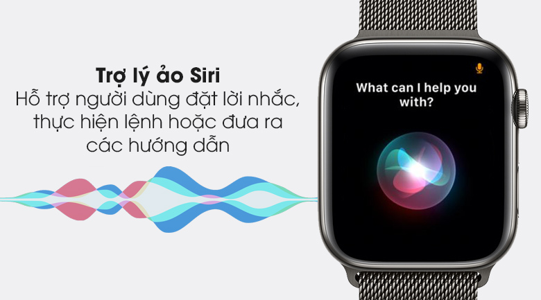 Apple Watch S6 LTE 44mm viền thép dây thép được gtrang bị trợ lý Siri
