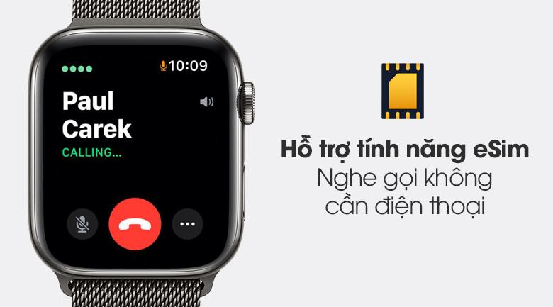 Apple Watch S6 LTE 44mm viền thép dây thép được hỗ trợ tính năng eSim
