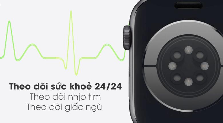 Apple Watch S6 LTE 44mm viền nhôm dây cao su giúp bạn theo dõi sức khỏe tốt hơn