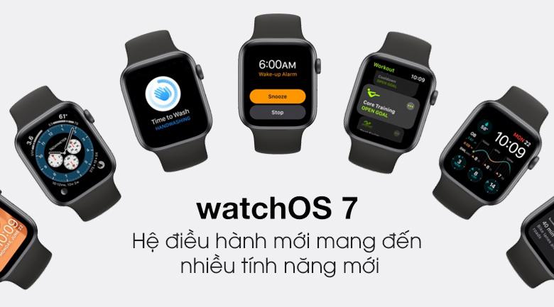 Apple Watch S6 LTE 44mm viền nhôm dây cao su sử dụng hệ điều hàng watchOS 7