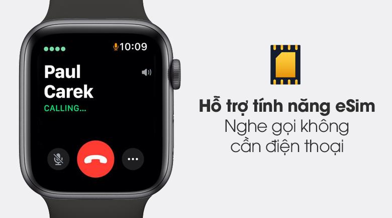 Apple Watch S6 LTE 44mm viền nhôm dây cao su được hỗ trợ tính năng eSim