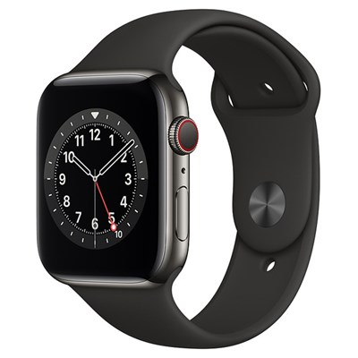 Apple Watch S6 LTE 44mm viền thép dây cao su