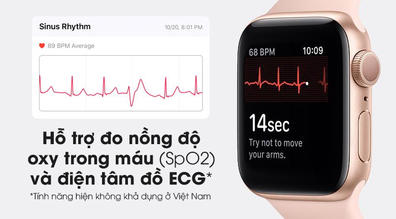 Apple Watch S6 nổi bật với tính năng đo nồng độ oxi trong máu (SpO2) và điện tâm đồ ECG