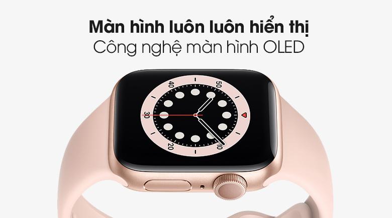 Apple Watch S6 sở hữu mà hình OLED luôn hiển thị với độ sắc nét cao