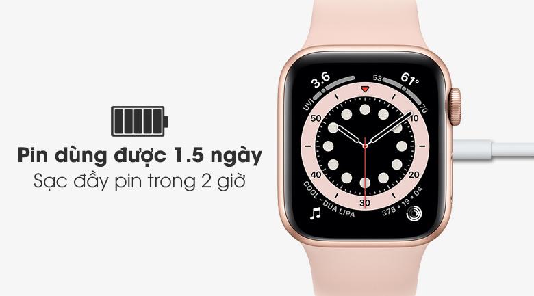 Apple Watch S6 có pin dung lượng lớn, sạc đầy nhanh chóng