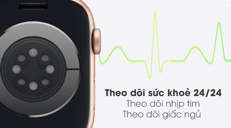 Apple Watch S6 có tính năng đo nhịp tim và theo dõi sức khỏe 24/24
