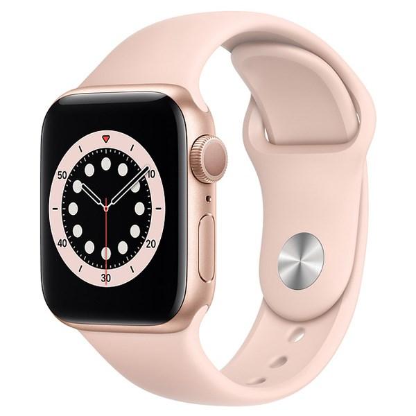 Apple Watch S6 40mm viền nhôm dây cao su hồng