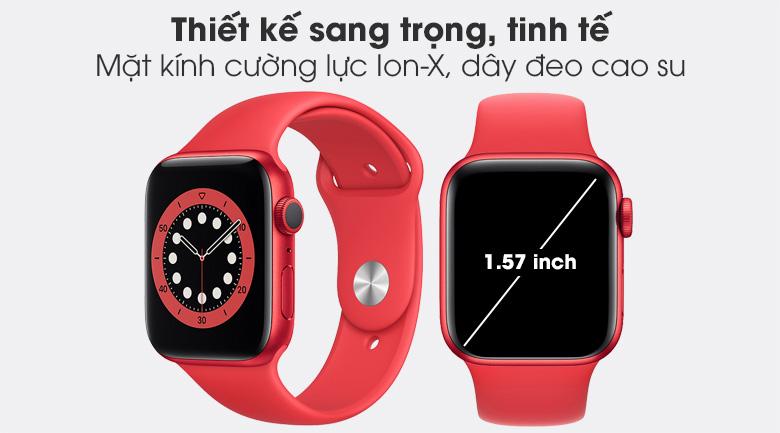 Apple Watch S6 40mm viền nhôm dây cao su (RED) nổi bật với thiết kế sang trọng, hiện đại