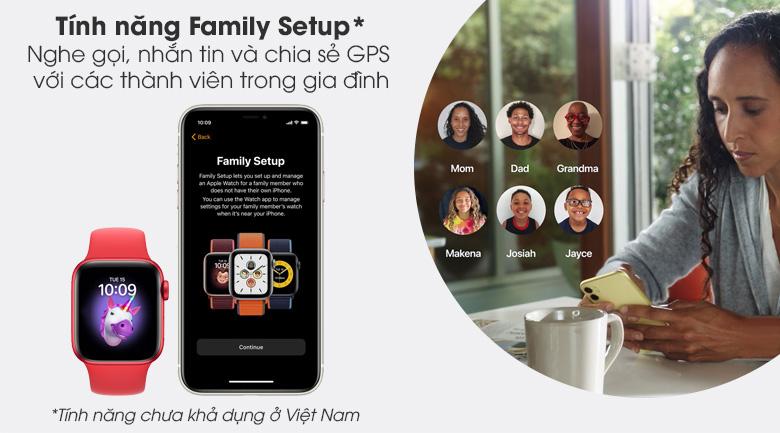 Apple Watch S6 40mm viền nhôm dây cao su (RED) có tính năng Family Setup hữu ích